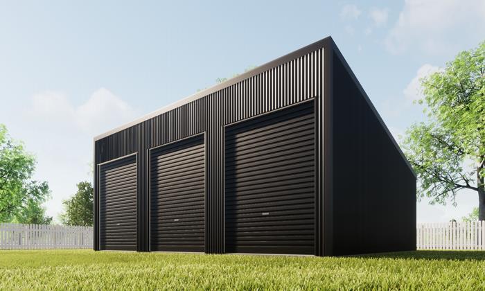 Skillion Triple Garage